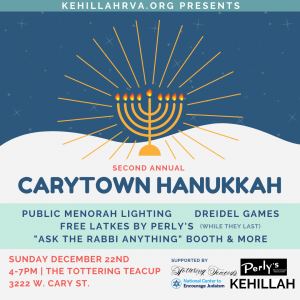Second Annual Carytown Hanukkah @ The Tottering Teacup