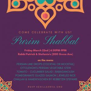 Purim Shabbat @ Rabbi Patrick & Stefanie's Condo